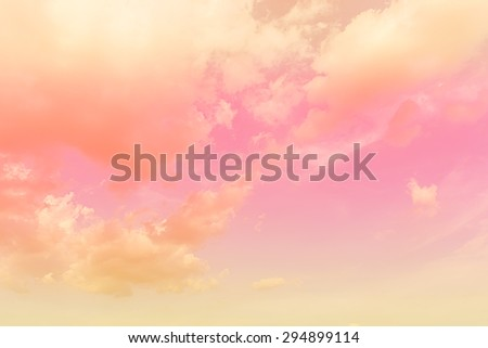 soft cloud background with gradient colorful - stock photo