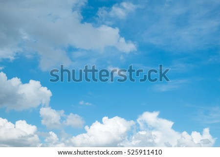 Soft Cloud in blue sky for background backdrop use