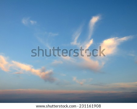 soft clouds - stock photo