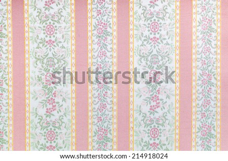soft-color background with colored vertical stripes (shades of pink and flower) - stock photo