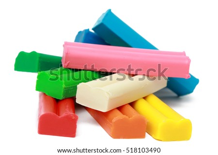 Soft colored wax clay