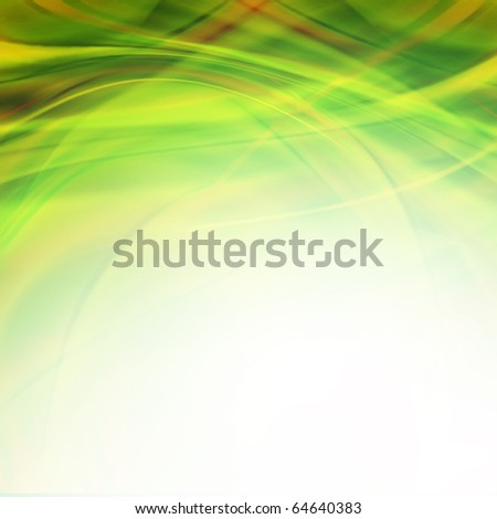 soft curly lines background - stock photo