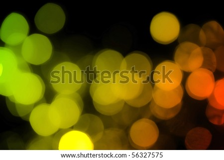 Soft de-focused red, yellow, orange lights background