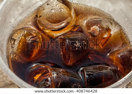 Soft Drink at beach with ice