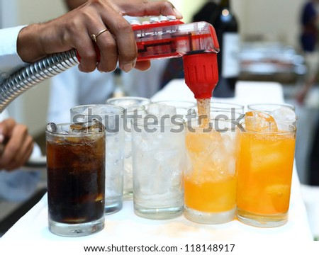 softdrink dispensers in party room - Drink Dispensers