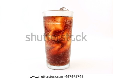 Soft drink on a white background