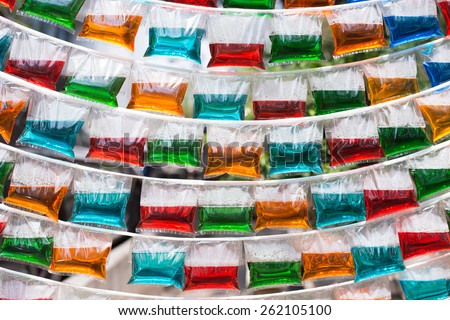 Soft drinks background in Thailand - stock photo