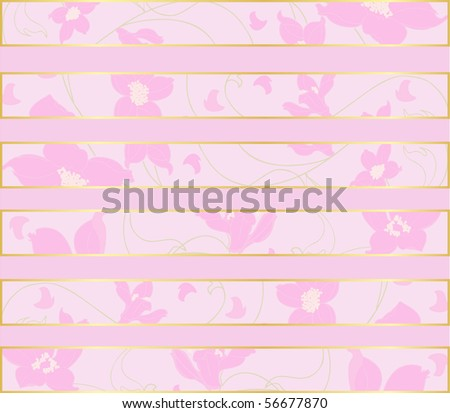 Soft floral creative vector background