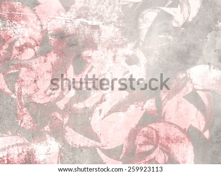 Soft floral pattern - abstract vintage flower background