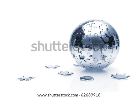 Soft focus Global Business concept studio shot - stock photo