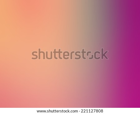 soft gradient color background of orange peach and blue faded into bright purple pink - stock photo