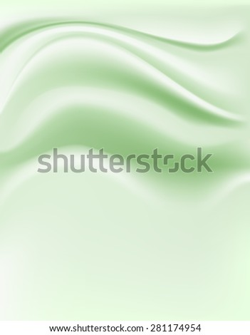 soft green cream background - stock photo