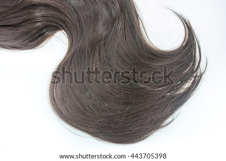 soft hair on isolated background
