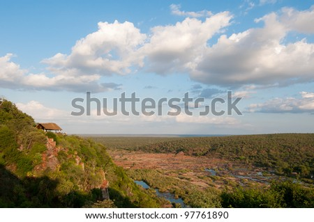 Soft Landscape Olifants River Kruger Park South Africa