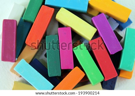 Soft pastel for artists - stock photo
