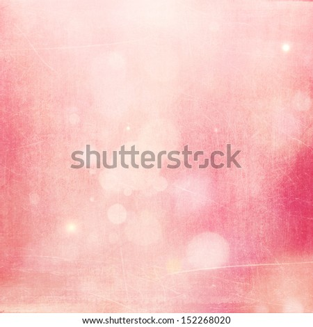 Soft Pink Bokeh Retro Background with Scratches  - stock photo