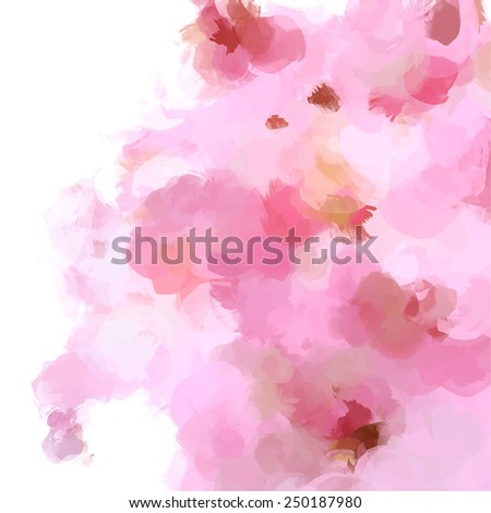 Soft pink brush strokes background. Raster version - stock photo