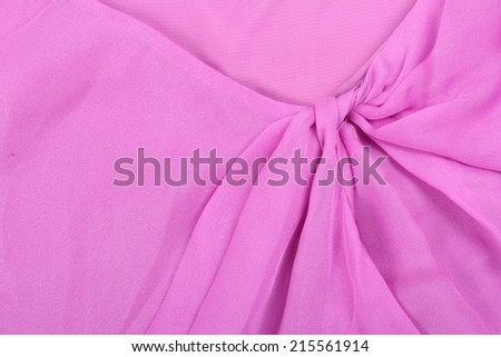 Soft pink chiffon with curve and wave - stock photo