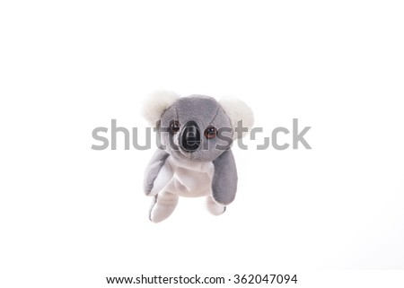 Soft plush, toy koala - stock photo