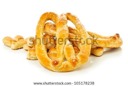 Soft Pretzels and Pretzel Nuggets - stock photo
