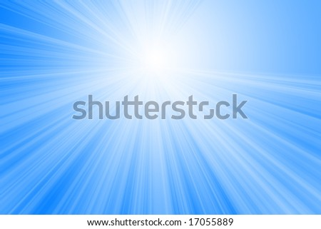 soft sun on a light blue background