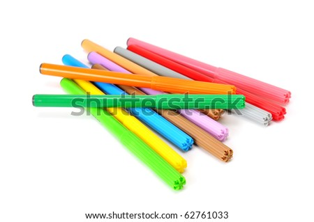 soft-tip pen isolated on a white background - stock photo