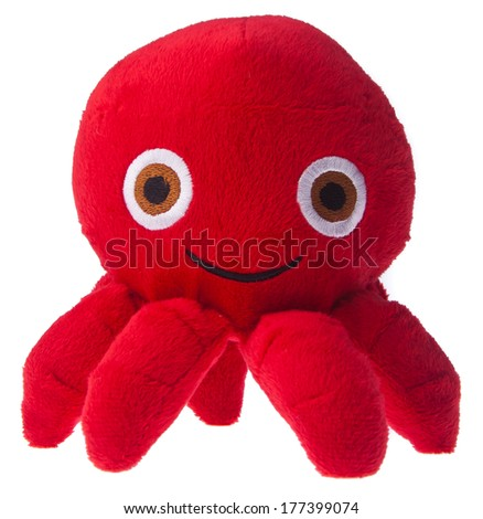soft toy octopus on the background.