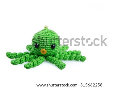 Soft toys isolated on white background - stock photo