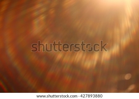 soft warm light rays, sun glare background - stock photo