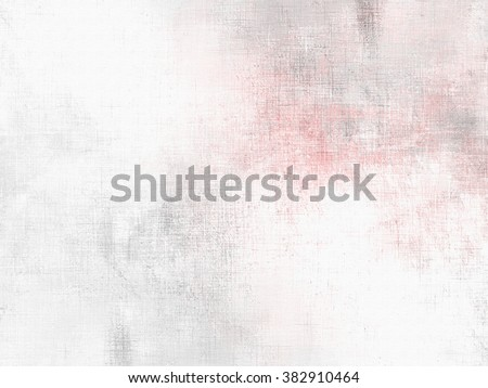 Soft watercolor background white grey pink - abstract pale painting