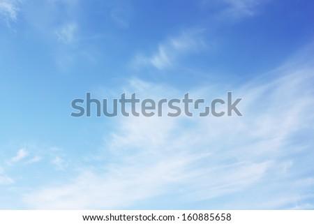 Soft white sky - stock photo