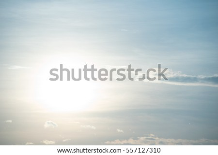 soft white sunlight and Cloud on sky