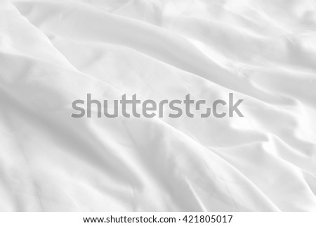 soft white wrinkle bed sheets for background