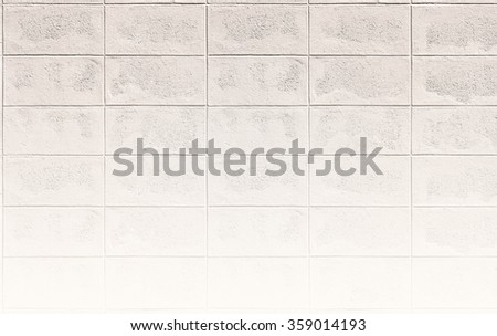 soft yellow color brick wall pattern /White wall texture