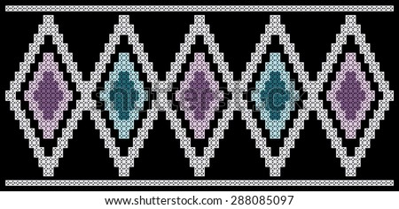 Software created image of cross stitched needlework. Background color is optional.