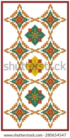 Software created image of cross stitched needlework. Forever diamonds