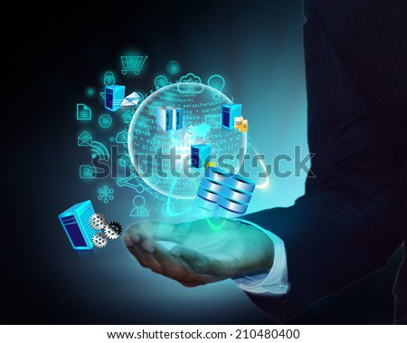 Software Development and usage of various system integrations in Coding phase - stock photo