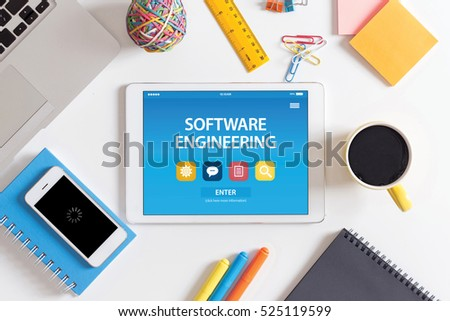 Software engineering concept on tablet pc stock photo royalty free software engineering concept on tablet pc screen ccuart Image collections