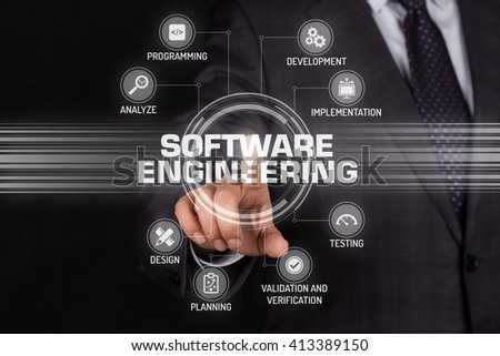 SOFTWARE ENGINEERING TECHNOLOGY COMMUNICATION TOUCHSCREEN FUTURISTIC CONCEPT