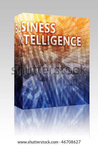 Software package box Business intellegence abstract, computer technology concept illustration - stock photo