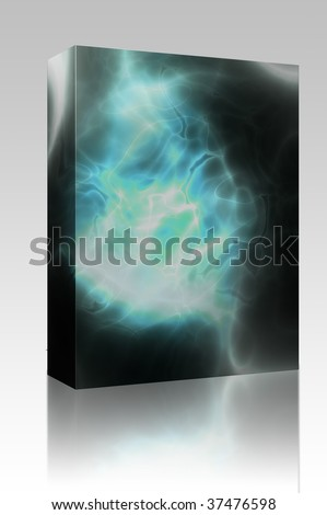 Software package box Energy aura glow abstract graphic design illustration