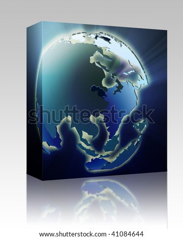 Software package box globe map illustration stock illustration software package box globe map illustration of asia and pacific gumiabroncs Images