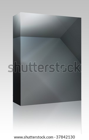 Software package box Smooth angular 3d geometric abstract graphic design background