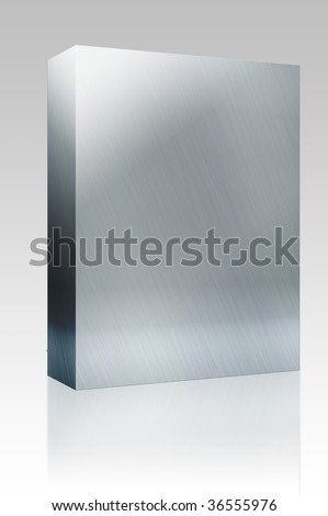 Software package box Texture background illustration of brushed glossy metal surface - stock photo
