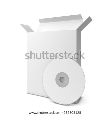 Software package. 3d illustration isolated on white background