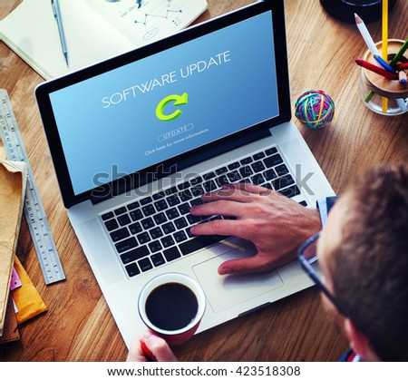 Software Update Website Webpage Networking Concept - stock photo