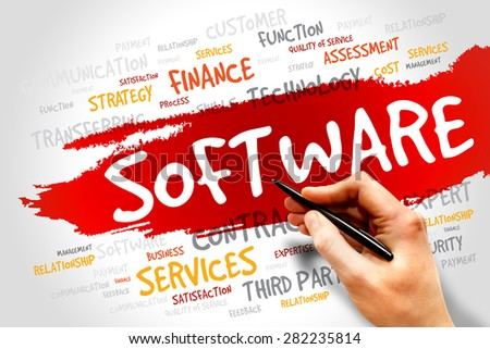 Software Word cloud, business concept - stock photo