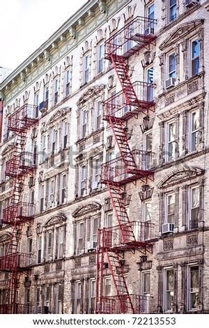 Soho lofts & apartments in New York city - stock photo