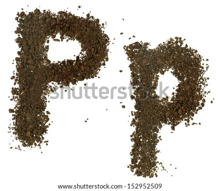 Soil alphabet letters p stock photo 152952509 shutterstock for Soil 8 letters