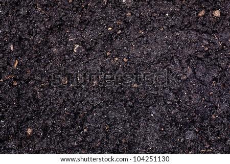 soil background texture - stock photo